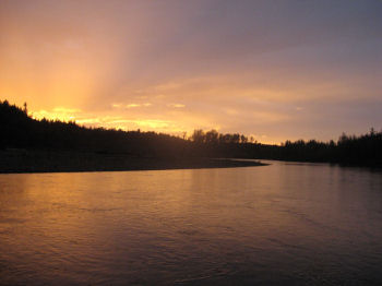 Nooksack river sunset